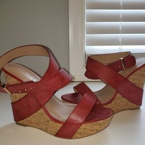 Like new Charles by Charles David Red Sandals
